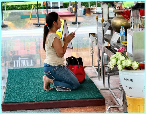 Laywoman praying